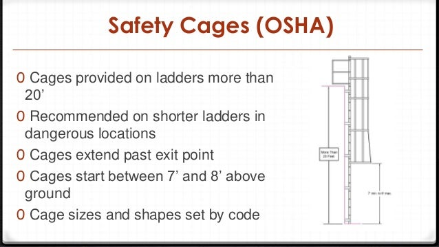 Safety Cages (OSHA) ...