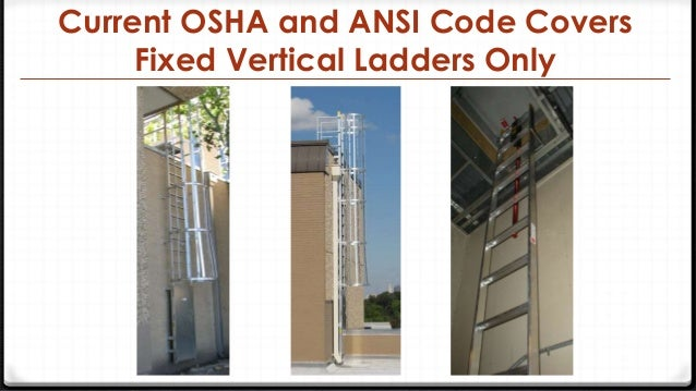 Osha Ansi Design Criteria For Access Roof Ladders