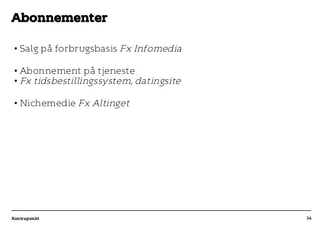 r T C MAXIMUM CONTENT WIDTH Kontrapunkt PowerPoint Template / Release date: 2014-11-20 •Salg på forbrugsbasis Fx Infomedi...