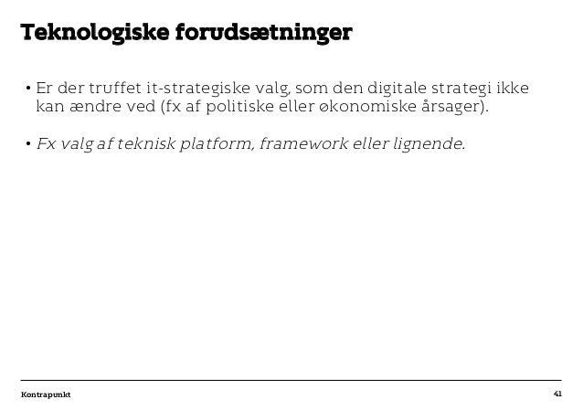 r T C MAXIMUM CONTENT WIDTH Kontrapunkt PowerPoint Template / Release date: 2014-11-20 •Er der truffet it-strategiske val...