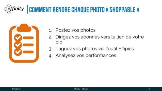 "Effipics : rendez vos photos ""shoppable"" en 4 étapes Slide 2"