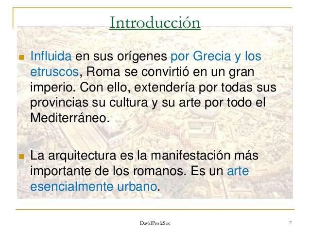 El Arte de la Antigua Roma. 1ºESO Slide 2