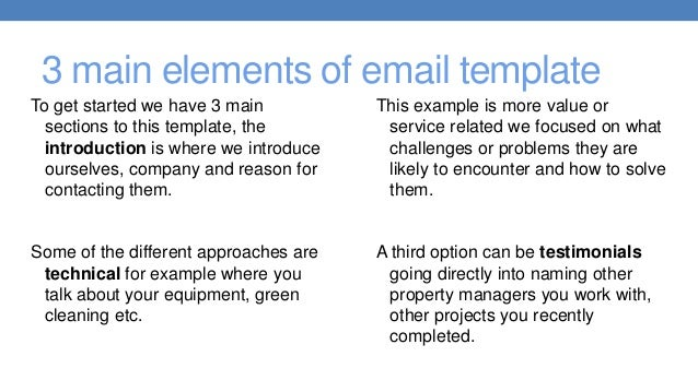 Sample Janitorial Email Marketing Template
