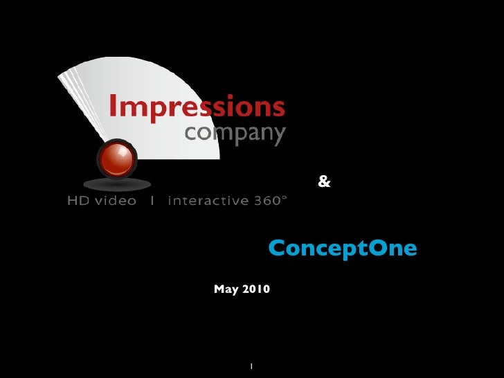 &            ConceptOne May 2010          1