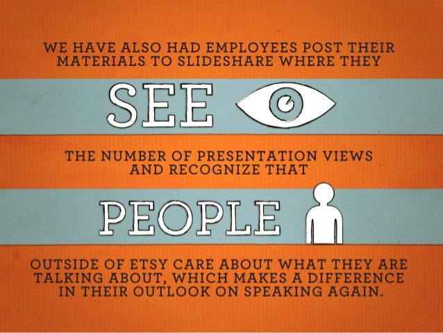 WE HAVE ALSO HAD EMPLOYEES POST THEIR MATERIALS TO SLIDESHARE WHERE THEY  THE NUMBER OF PRESENTATION VIEWS AND RECOGNIZE T...