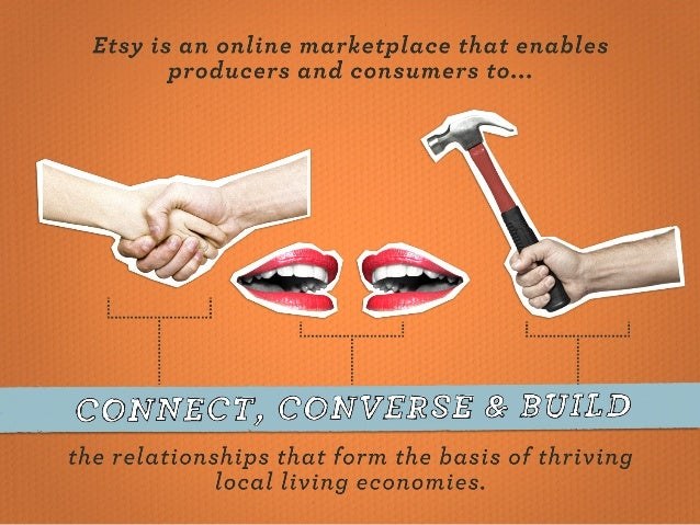 """Etsy is an online marketplace that enables producers and consumers to. ..  come'/ get"""",  @@. _iNiVERSE 01110  the relation..."""