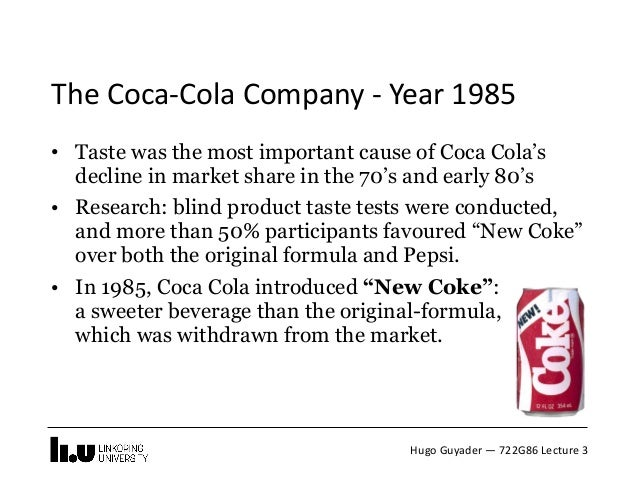 how does coca cola use market research