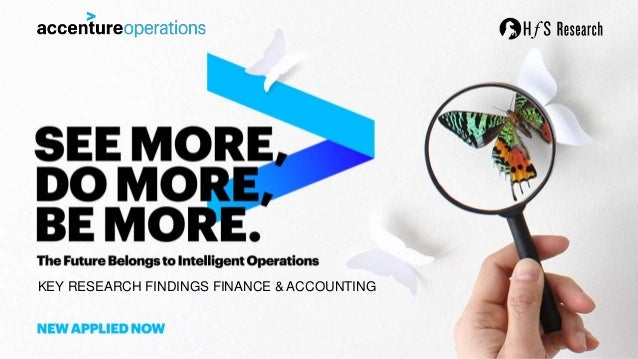 KEY RESEARCH FINDINGS FINANCE & ACCOUNTING