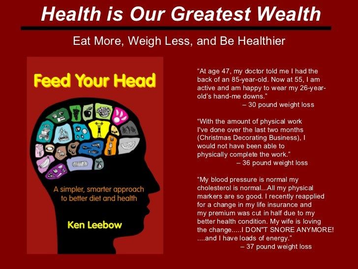 health is wealth speech