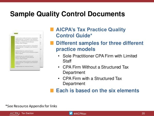 Tailor-Made Tax Practice Quality Controls presented at the West Michi…