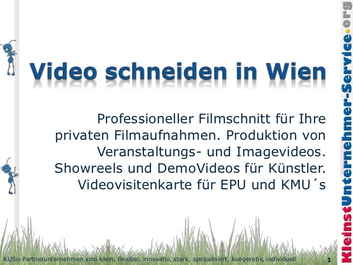 Professioneller Filmschnitt für Ihre                 privaten Filmaufnahmen. Produktion von                        Veranst...