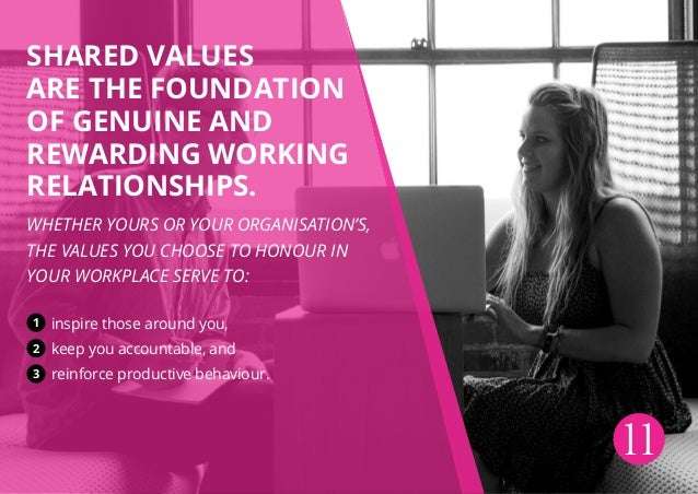 Shared values are the foundation of genuine and rewarding working relationships. Whether yours or your organisation's, the...