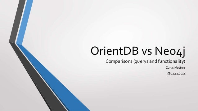 OrientDB vs Neo4j Comparisons (querys and functionality) Curtis Mosters @02.12.2014