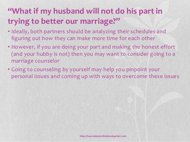 What can i do to fix my marriage