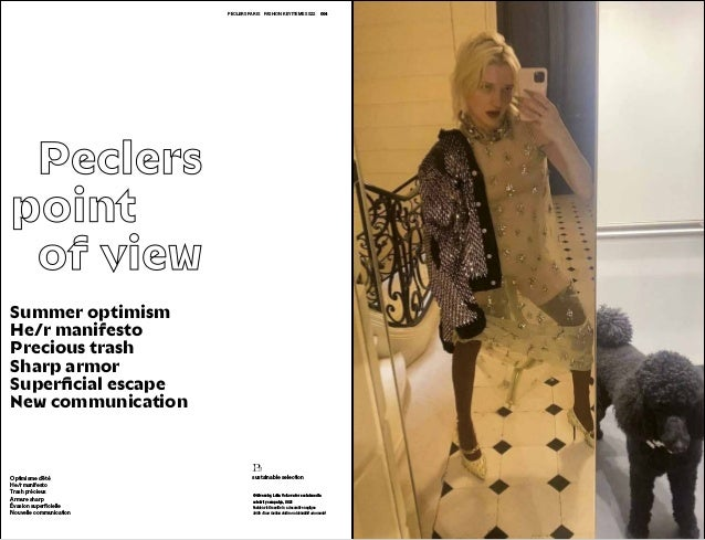 004 005 PECLERS PARISFASHION KEY ITEMS SS22 Peclers point  of view © Givenchy, Lotta Volkova for social media celebrity...