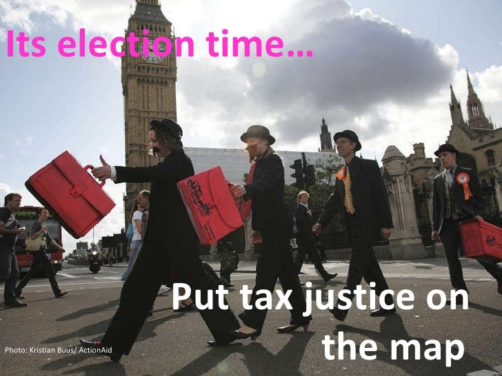 Its election time… Put tax justice on  the map Photo: Kristian Buus/ ActionAid