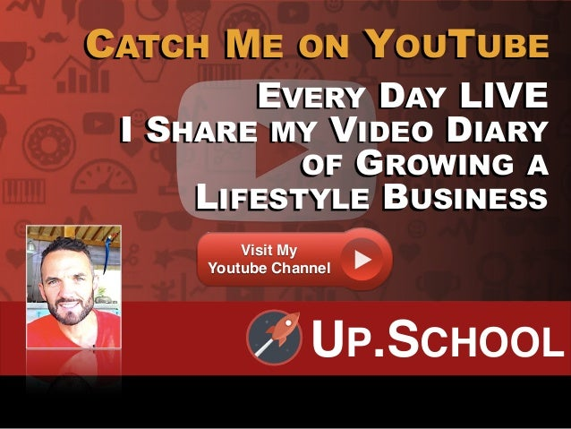 EVERY DAY LIVE I SHARE MY VIDEO DIARY OF GROWING A LIFESTYLE BUSINESS CATCH ME ON YOUTUBE Visit My Youtube Channel UP.SCHO...