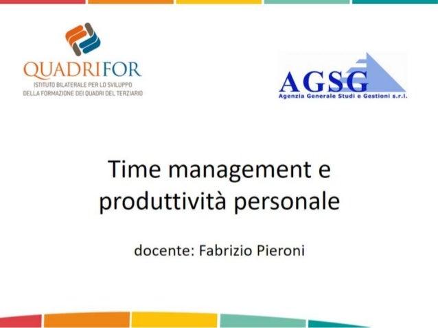 Time Management e produttività personale: GTD e Zen To Done
