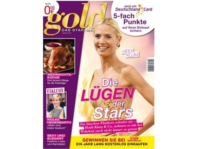 gold im Dezember – das STAR-MAGAZIN