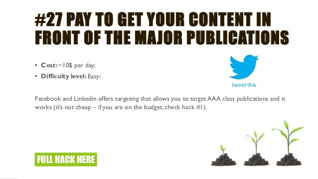 #31 AUDIT YOUR SEO – SEO IS NOT A GUT FEEL BUT SCIENCE • Cost: 0$; • Difficulty level: Hard; When was the last time you di...