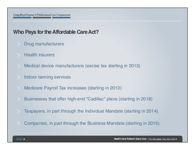 Health Care Reform Goes Live: The Affordable Care Act in 2014