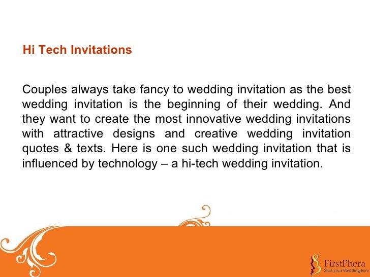 Hi-Tech Wedding Invitations