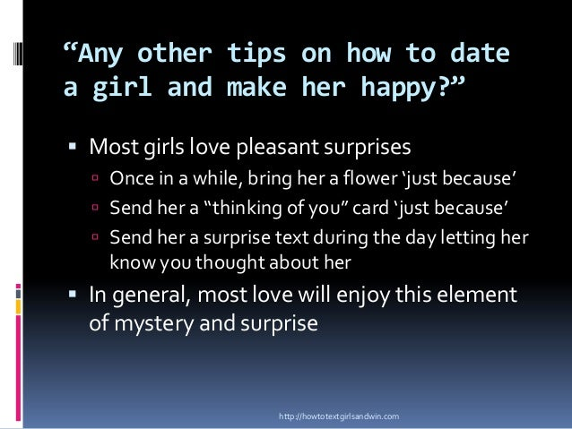 Things to text a girl to make her happy