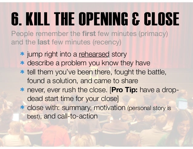 jump right into a rehearsed story describe a problem you know they have tell them you've been there, fought the battle, fo...