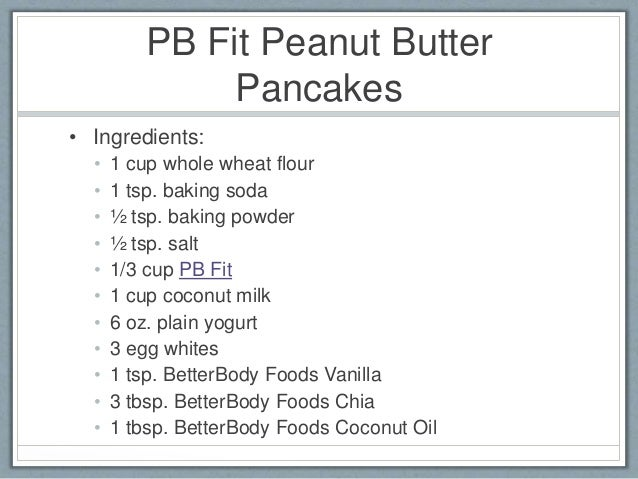 How to make peanut butter pancakes with peanut butter powder 6 pb fit peanut butter pancakes ingredients ccuart Image collections