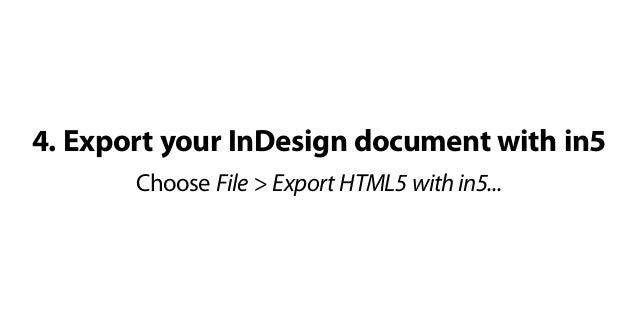 How to Create an HTML5 Flipbook with Adobe InDesign and in5