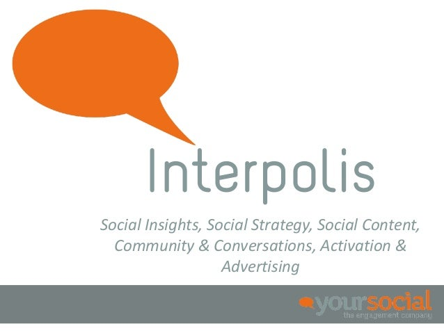 InterpolisSocial Insights, Social Strategy, Social Content,  Community & Conversations, Activation &                   Adv...