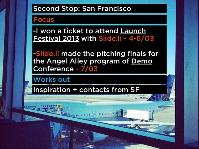 I won a ticket with Slide.li to attend LaunchFestival. The best place to launch your startup,raise money and learn about s...