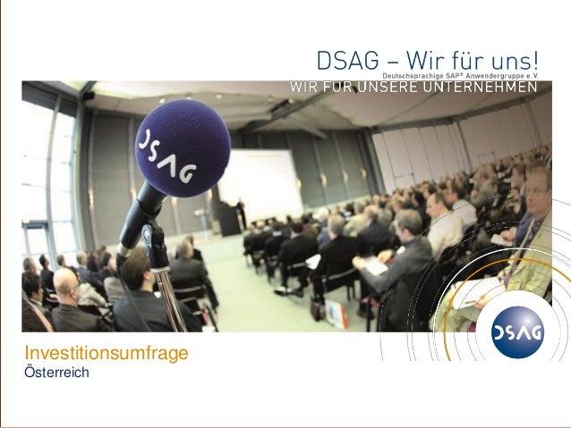 ©1DSAG e.V.InvestitionsumfrageÖsterreich