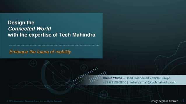 Engineering Services Forum Tech Mahindra Sensedriver