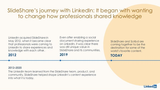 SlideShare's journey with LinkedIn: It began with wanting to change how professionals shared knowledge LinkedIn acquired S...