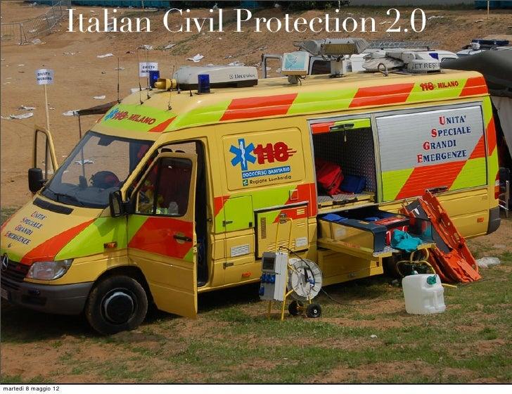 Italian Civil Protection 2.0martedì 8 maggio 12