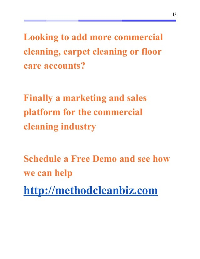free janitorial bidding forms