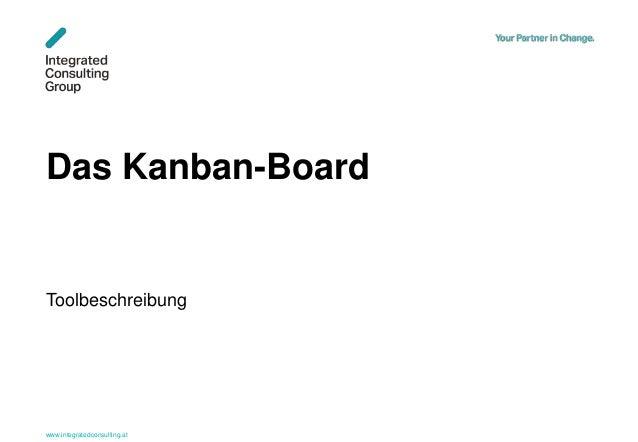 www.integratedconsulting.at 1 Das Kanban-Board Toolbeschreibung