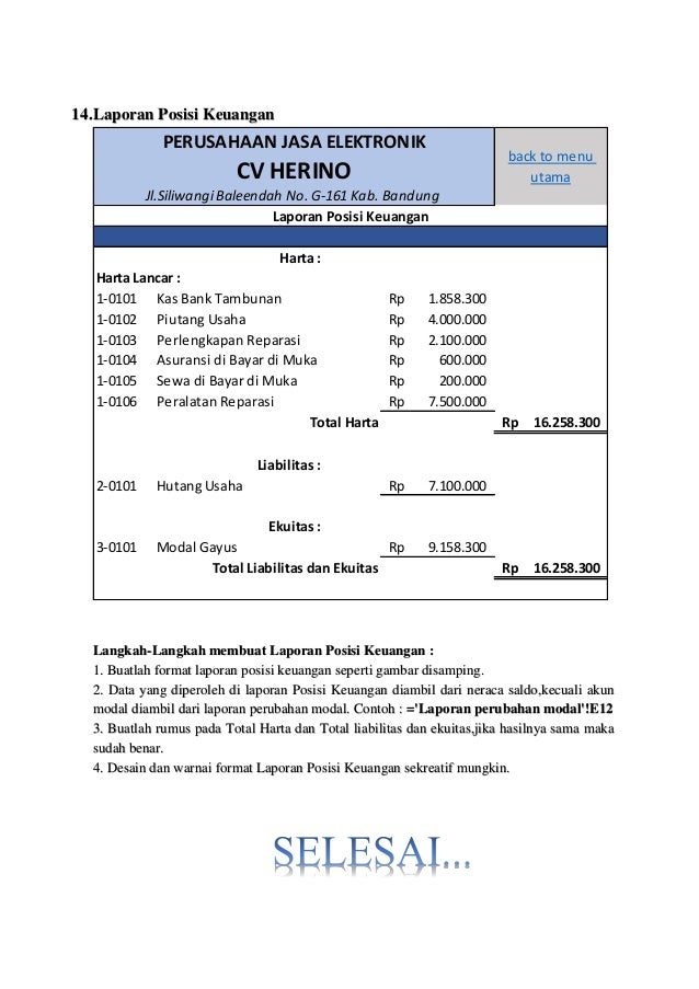 Langkah Langkah Membuat Laporan Keuangan - Seputar Laporan