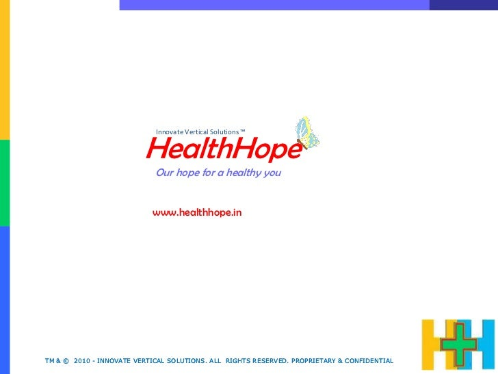 Innovate Vertical Solutions ™                         HealthHope                            Our hope for a healthy you    ...