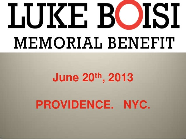 June 20th, 2013 PROVIDENCE. NYC.