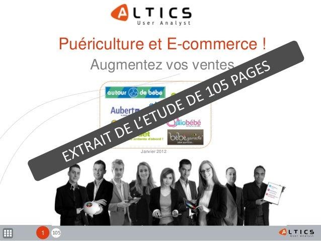 1051 Puériculture et E-commerce ! Augmentez vos ventes Janvier 2012