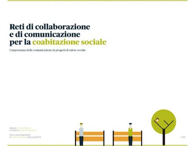 Reti di Collaborazione e Comunicazione per la Coabitazione sociale