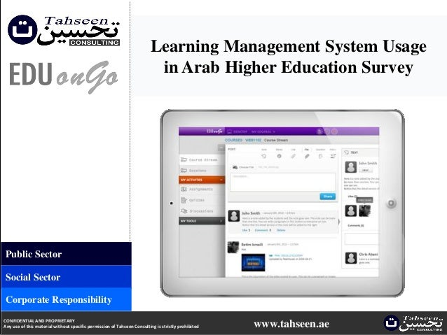 Learning Management System Usagein Arab Higher Education SurveyPublic SectorSocial SectorCorporate ResponsibilityCONFIDENT...