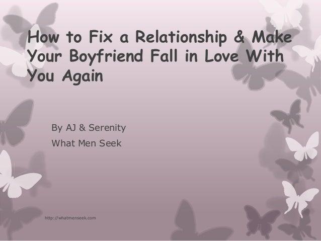 How Do I Fix My Relationship