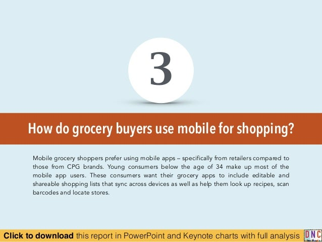 Click to download this report in PowerPoint and Keynote charts with full analysis How do grocery buyers use mobile for sho...