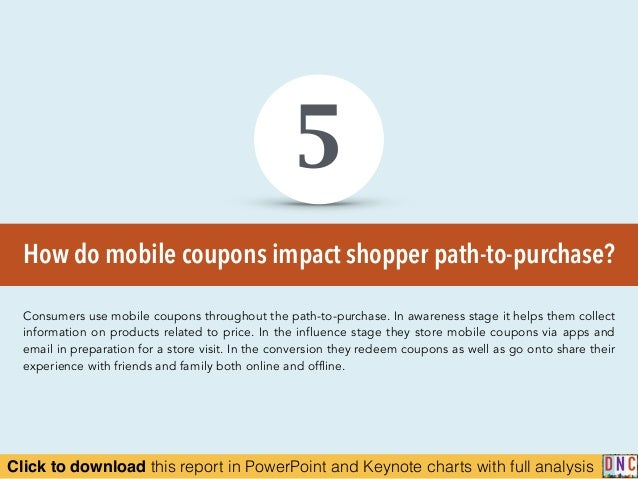 Click to download this report in PowerPoint and Keynote charts with full analysis How do mobile coupons impact shopper pat...