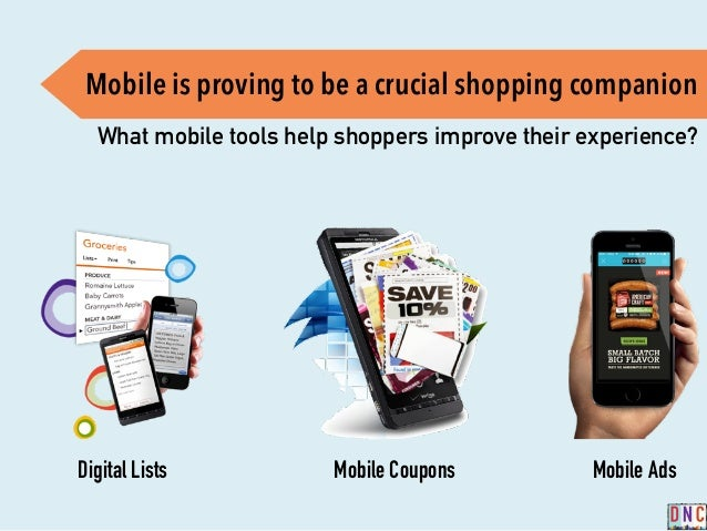 Mobile is proving to be a crucial shopping companion What mobile tools help shoppers improve their experience? Digital Lis...