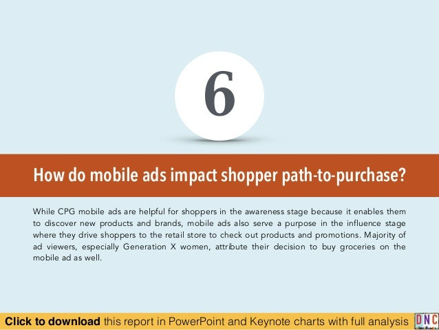 Click to download this report in PowerPoint and Keynote charts with full analysis How do mobile ads impact shopper path-to...