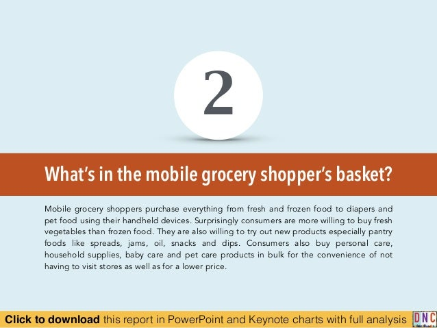 Click to download this report in PowerPoint and Keynote charts with full analysis What's in the mobile grocery shopper's b...